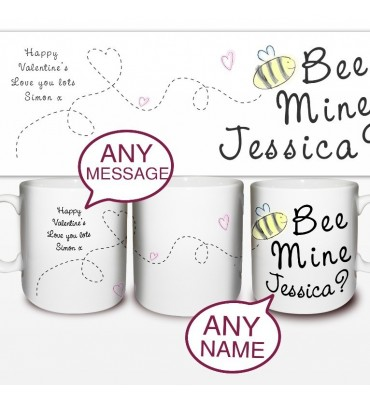 Petsonalised Bee Mine Mug
