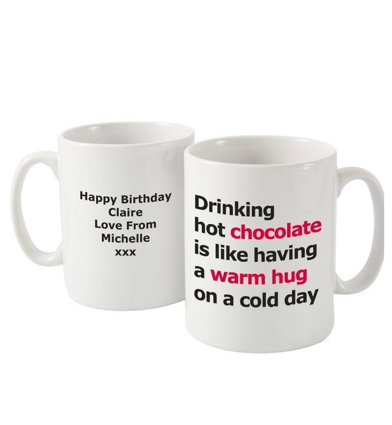 Personalised Hot Chocolate Slogan Mug