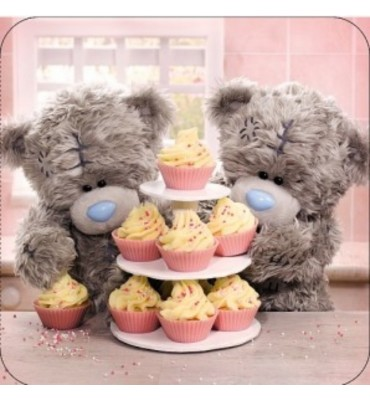 Happy Birthday Tatty Teddy By A Cake Stand Card