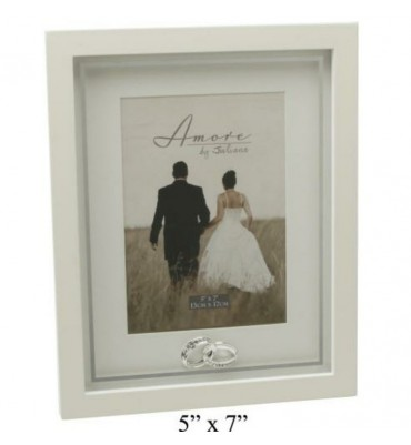 Amore Photo Frame with Crystal Rings.