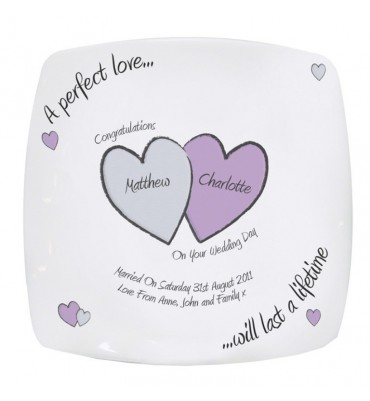 Personalised Wedding Plate The Perfect Love.
