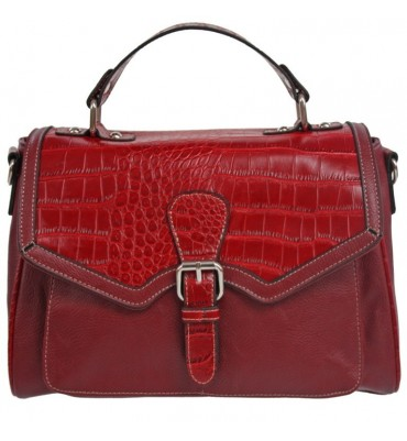 Crocodile Effect Red Bag.