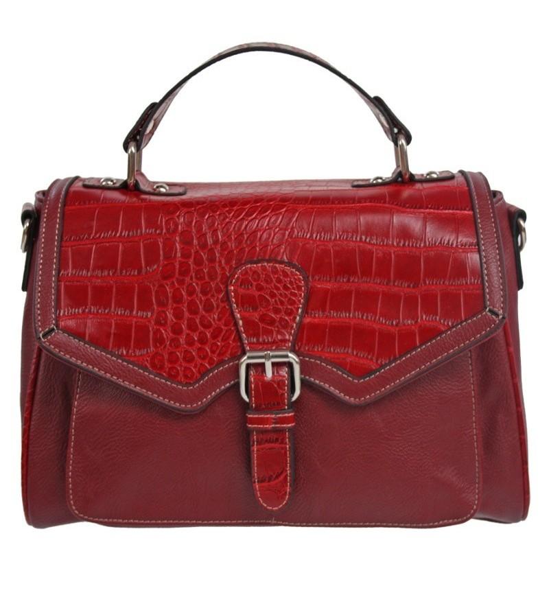 Crocodile Effect Red Bag.