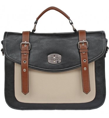 Three Tone Satchel Style Ladies Bag