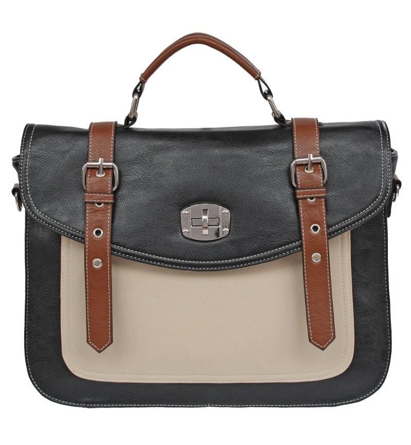 Three Tone Satchel Style Ladies Bag