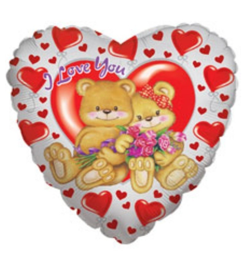 I Love You heart shaped helium balloon