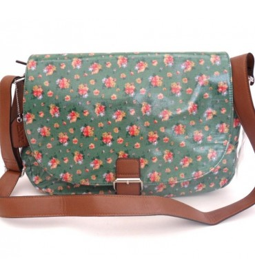 Green Flowery Bag