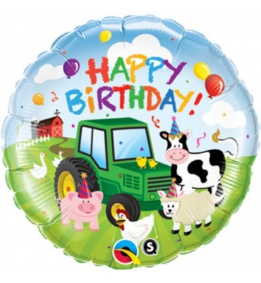 Happy Birthday Farmyard Balloon.