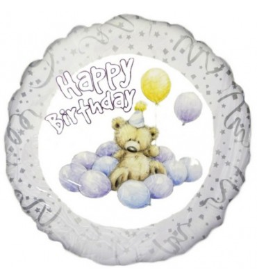 Happy Birthday Teddy Balloon