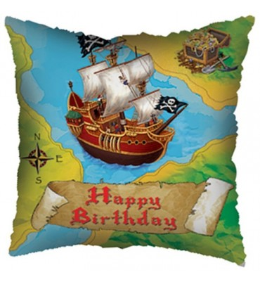 Happy Birthday Pirate Ship Helium Balloon.