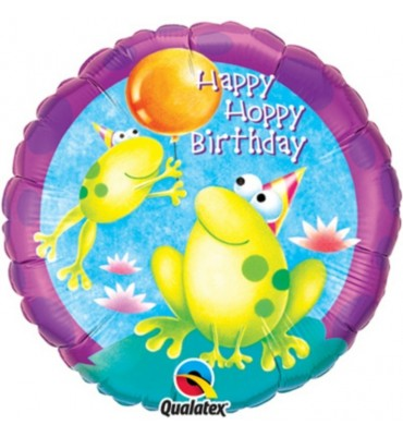 Happy Birthday Frog Balloon