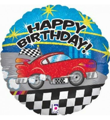 Happy Birthday Holographic Car Balloon