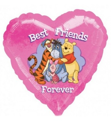 Heart Shaped Best Friends Helium Balloon