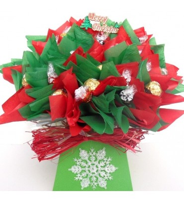 Lindor and Ferrero Rocher Christmas Bouquet.