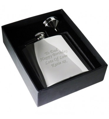 Boxed Stainless Steel Hipflask