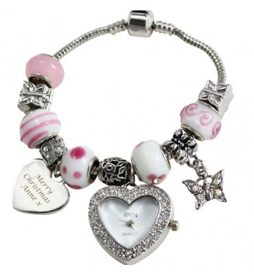 Personalised Pink Watch Charm