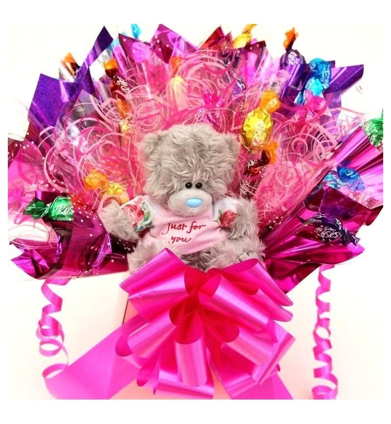 Valentine Chocolate Bouquet With Tatty Teddy