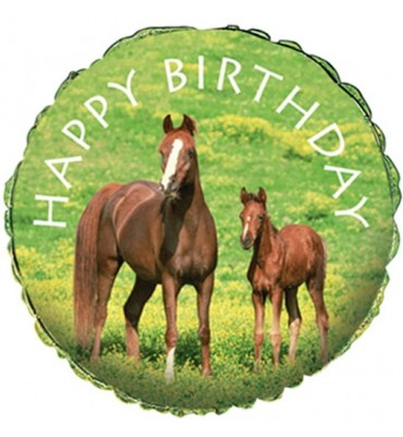 Happy Birthday Horse Design Helium Balloon