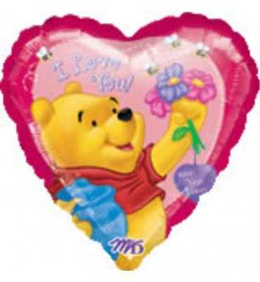 I Love You Pooh Bear Balloon.