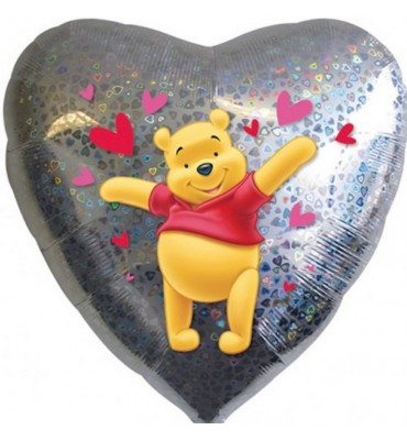 Heart Shaped Pooh Balloon