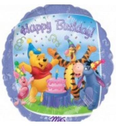 Pooh Birthday Party Helium Balloon