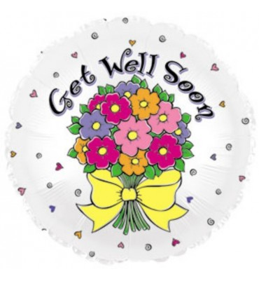 Get Well Bunch of Flowers Balloon