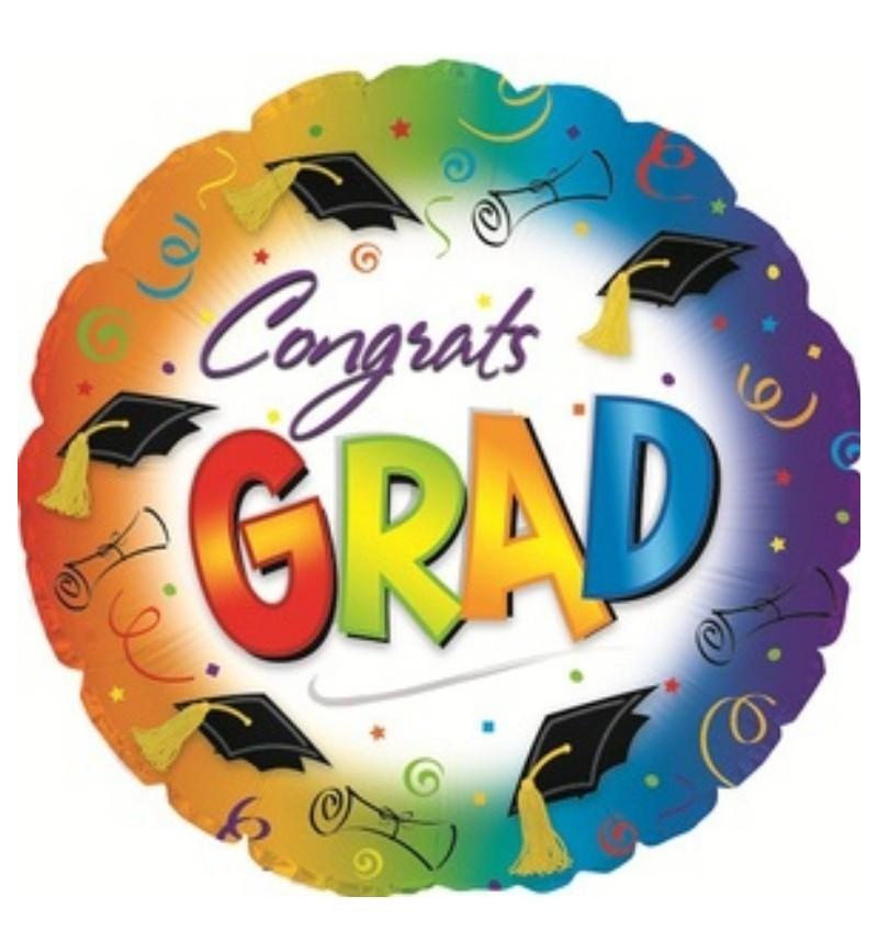 Congrats GRAD Helium Balloon in a Box