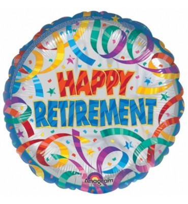 Colourful Retirement Helium Balloon.
