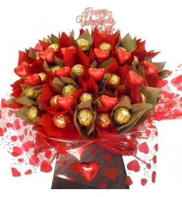 Valentine's Bouquet made with Chocolates.