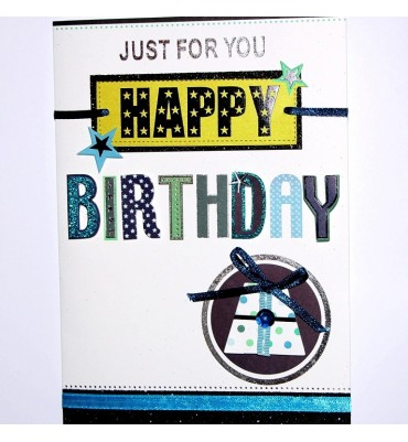 Just For You Happy Birthday Greetings Card