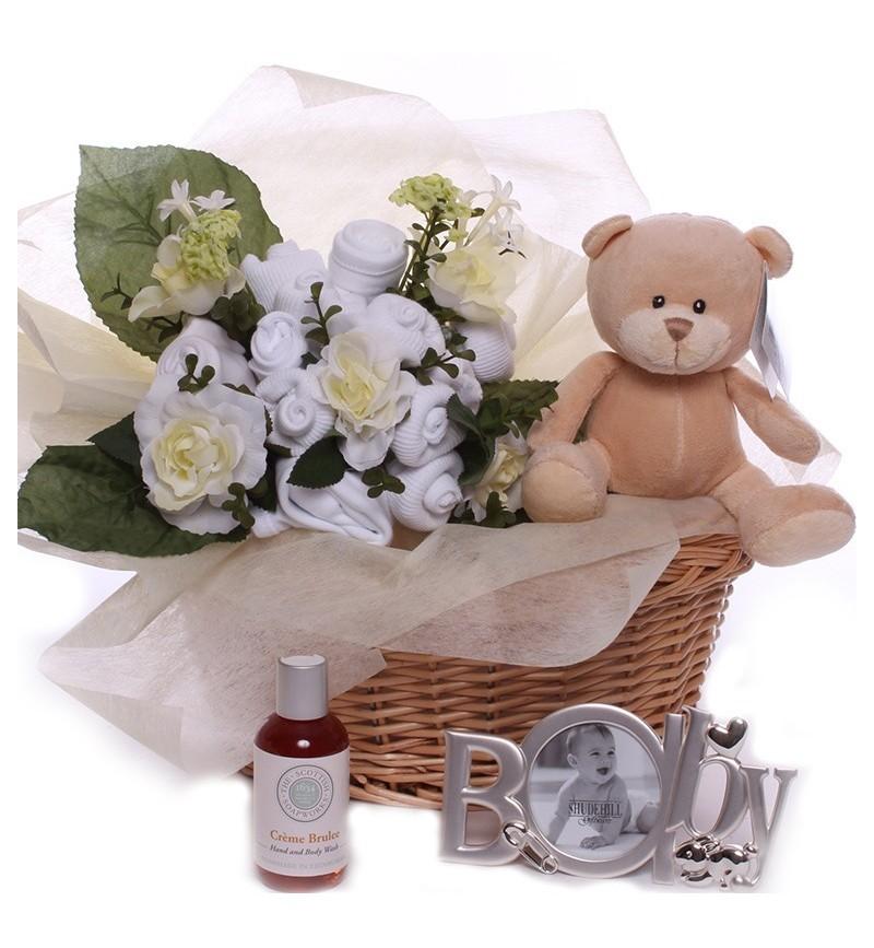 Unisex Baby Bouquet Gift Basket.