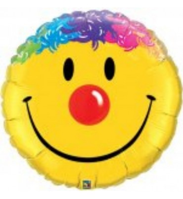 Helium Balloon with a big Smile on sent by post.