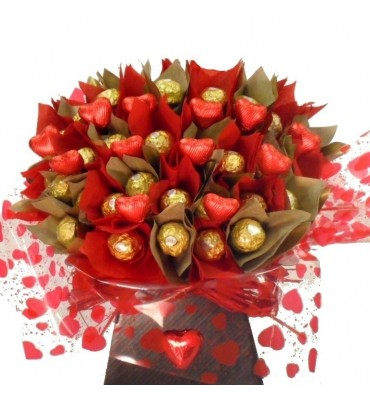 Bouquet of Ferrero Rocher Chocolates.