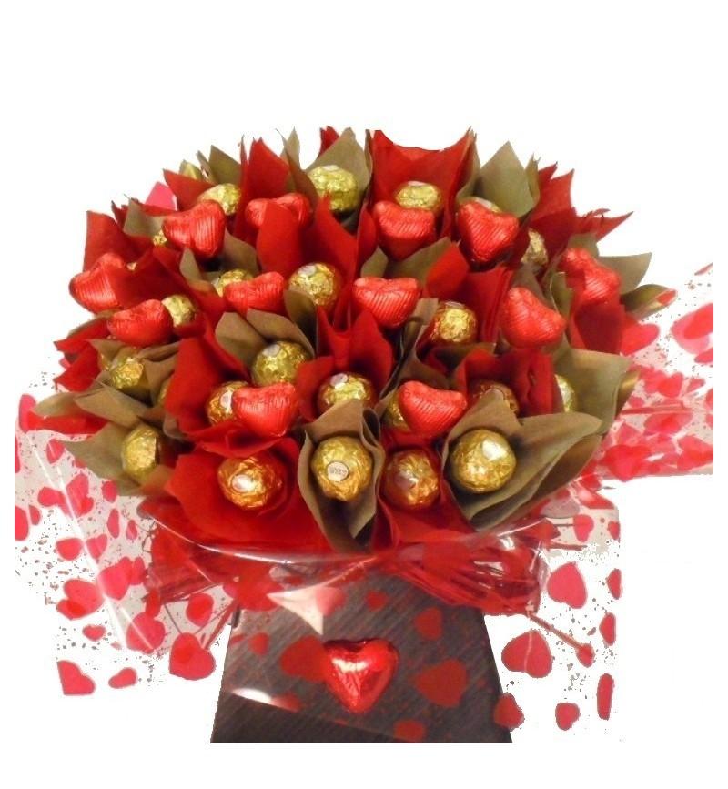 Bouquet of Ferrero Rocher Chocolates.