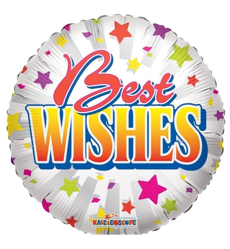 Best Wishes Helium Balloon.