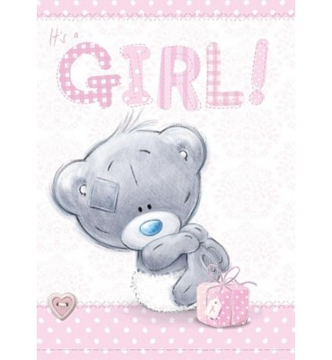 Birth of a Baby Girl Card.
