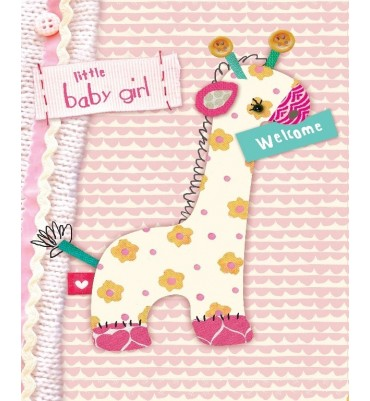 Little Baby Girl Welcome Card.