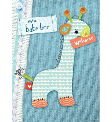 Little Baby Boy Greetings Card.