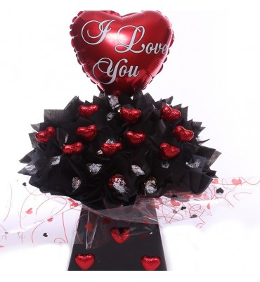 Valentine Lindor Chocolate Bouquet.