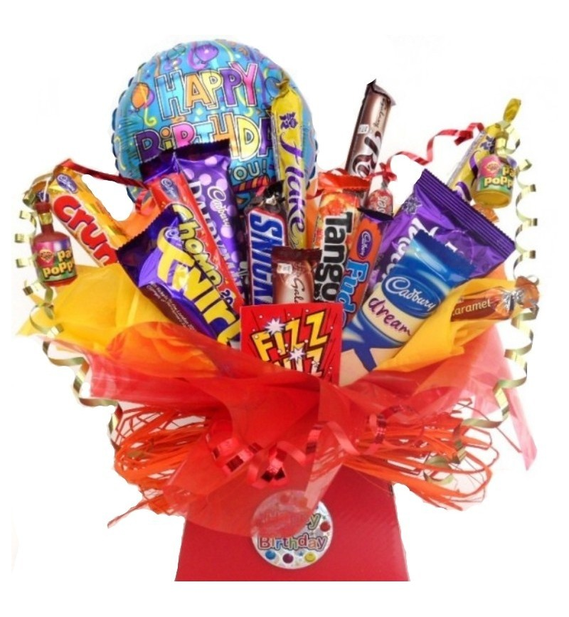 Happy Birthday Chocolate Bouquet With Balloon