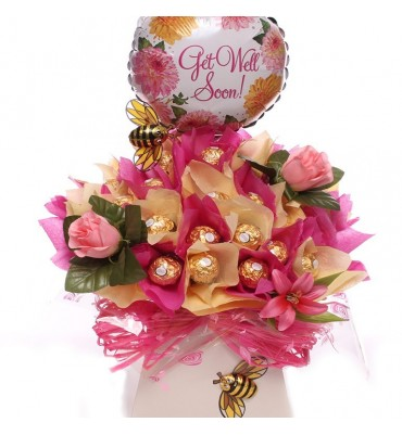 Get Well Chocolate Gift Bouquet.