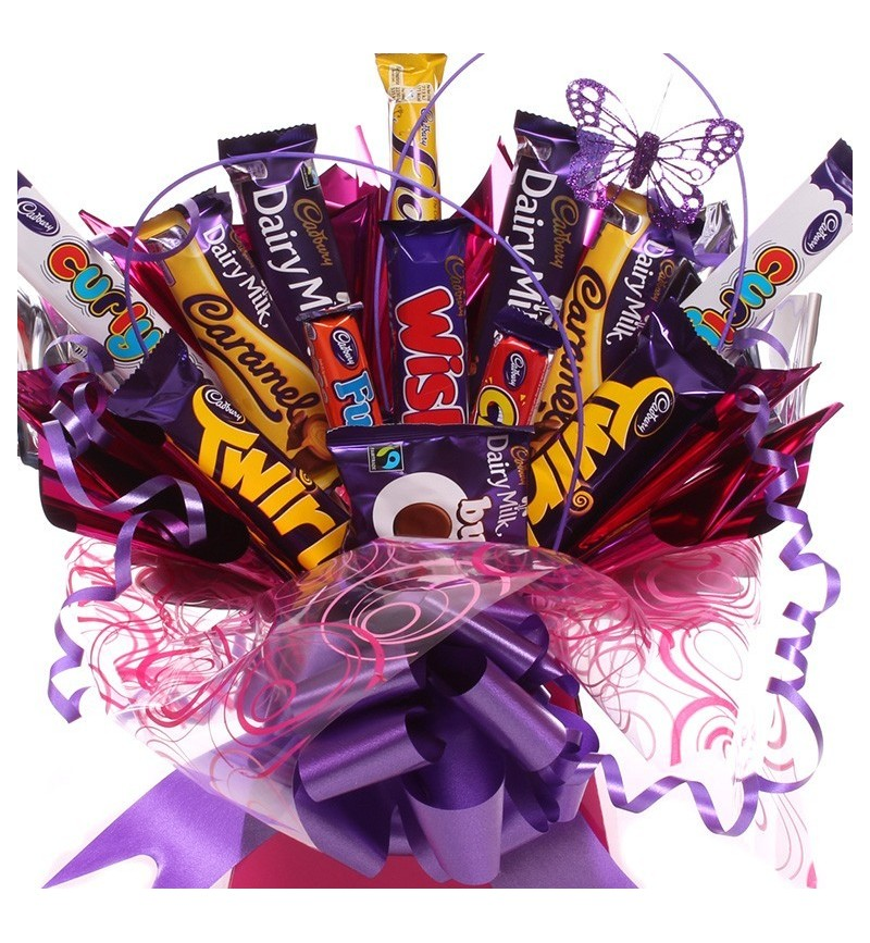 Chocolate Bar Arrangement For Her Chocolate Bouquet For Her