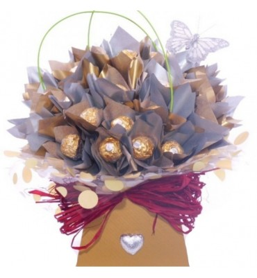 Chocolate Bouquet Wedding Centre Piece.