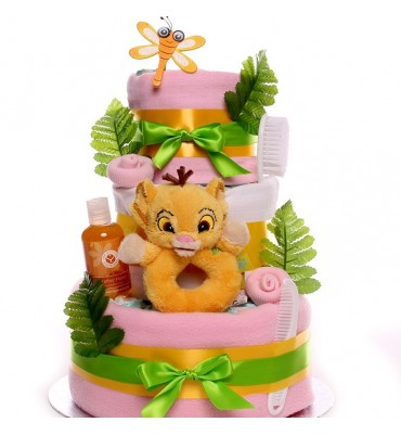 Lion King Baby Girl Nappy Cake.