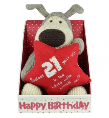 Boofle Boxed 21st Birthday Plush.