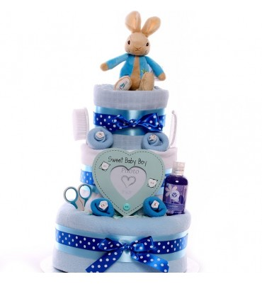 Peter Rabbit Nappy Cake.