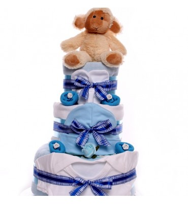 Nappy Cake for a Baby Boy