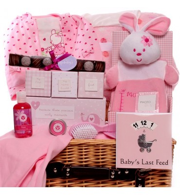 Bunny Time Baby Girl Hamper.