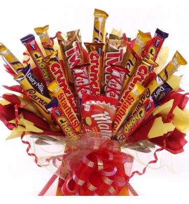 Sunshine Large Chocolate Bar Bouquet.