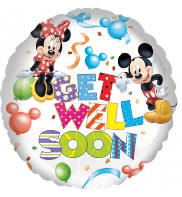 Disney Mickey Mouse Get Well Soon Helium Balloon.